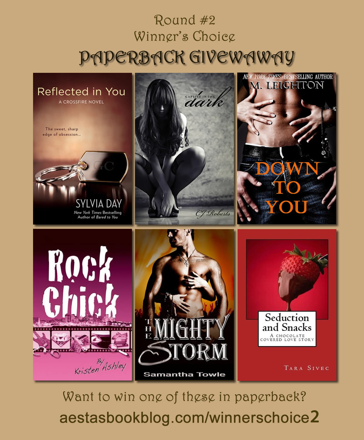 PAPERBACK AND eBOOK GIVEAWAY: Winner's Choice Round #2