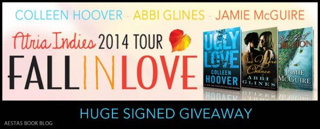 SIGNED GIVEAWAY from Colleen Hoover, Abbi Glines, & Jamie McGuire — ATRIA INDIES: FALL IN LOVE TOUR 2014
