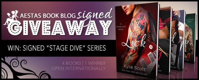 "HUGE SIGNED GIVEAWAY — ""STAGE DIVE"" SERIES by Kylie Scott"