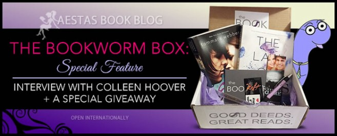 THE BOOKWORM BOX — GIVEAWAY & INTERVIEW WITH COLLEEN HOOVER