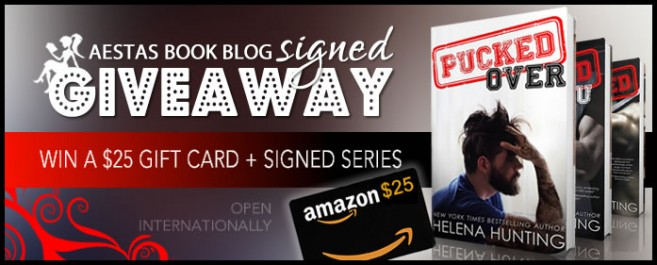 "$25 GIFT CARD + HUGE SIGNED GIVEAWAY — WIN ALL 3 ""PUCKED"" BOOKS by HELENA HUNTING"