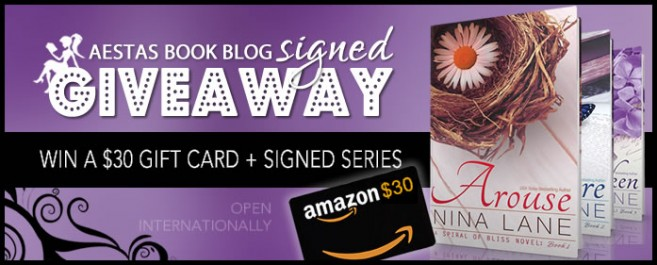 "$30.00 GIFT CARD + HUGE SIGNED GIVEAWAY — WIN THE ""SPIRAL OF BLISS"" SERIES by NINA LANE"