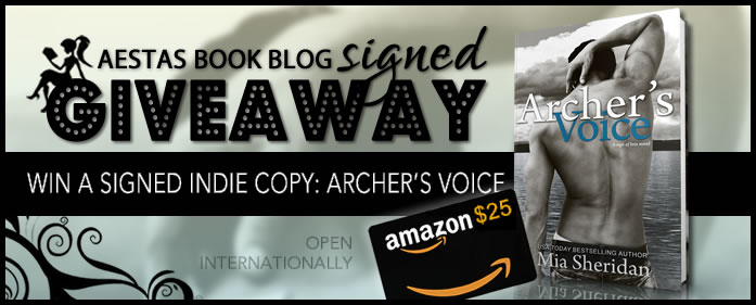 GIVEAWAY: $25.00 GIFT CARD + SIGNED (INDIE) COPY OF ARCHER'S VOICE